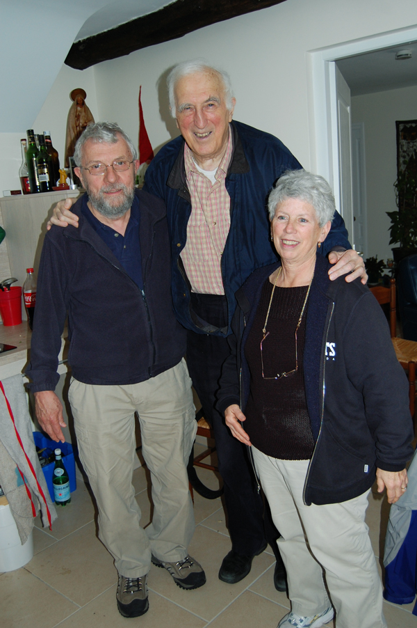 Brian and Mary Lou with Jean, in his house at Trosly (2012)